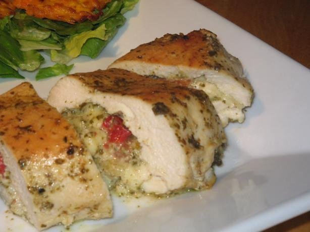 Pesto-Mozzarella Stuffed Chicken Breasts