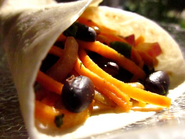 Yam and Black Bean Wraps (Louisiana)
