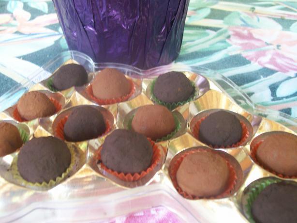 Bittersweet Chocolate-Cassis Truffles