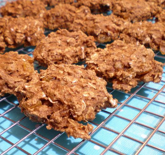 Healthy Oatmeal/Raisin Cookies