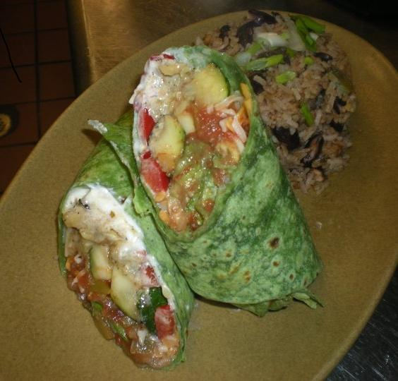 Shrimp-Potato Burrito With Sundried Tomato Salsa