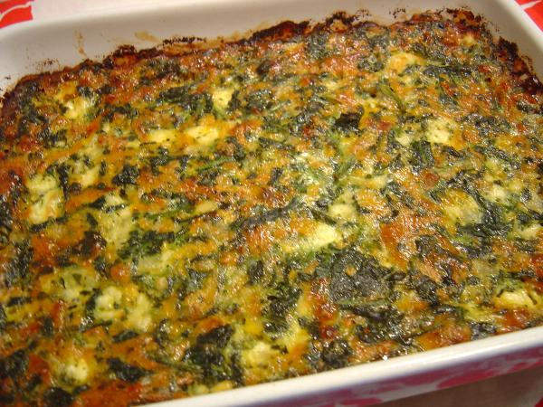Spinach & Cheese Casserole