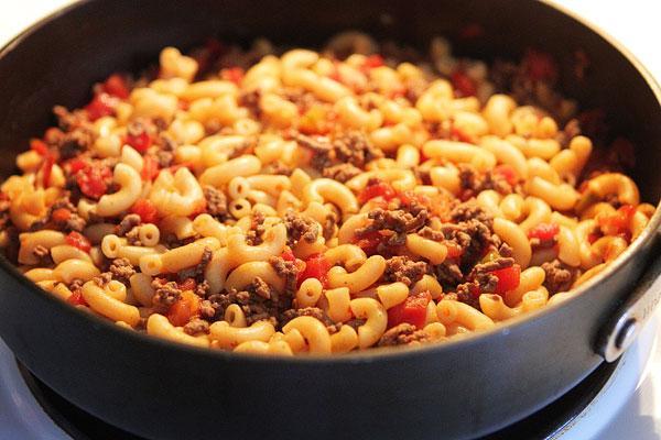 Tomato, Hamburger, Macaroni Goulash