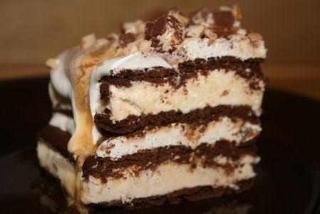 Layered Ice Cream Candy Cake!