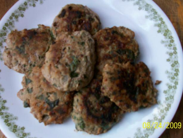 Spinach and Meat Cakes