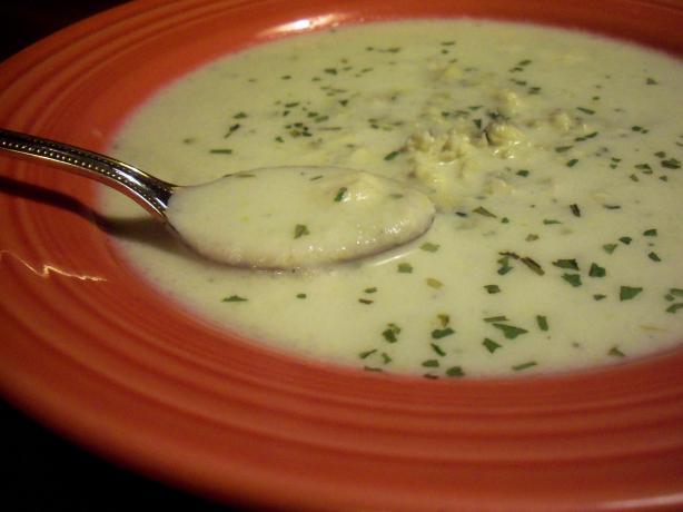 Cauliflower Blue Cheese Soup