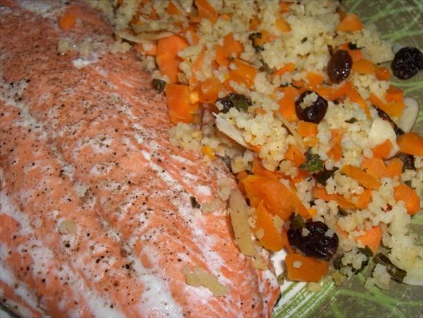 Baked Salmon With Couscous Pilaf