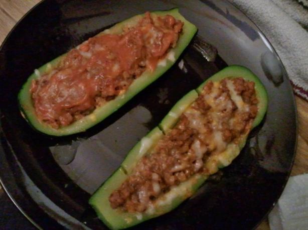 Beef Stuffed Zucchini