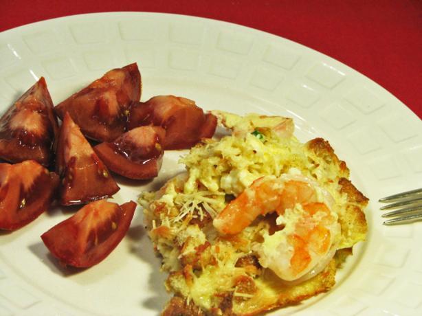 Cheesy Shrimp Frittata
