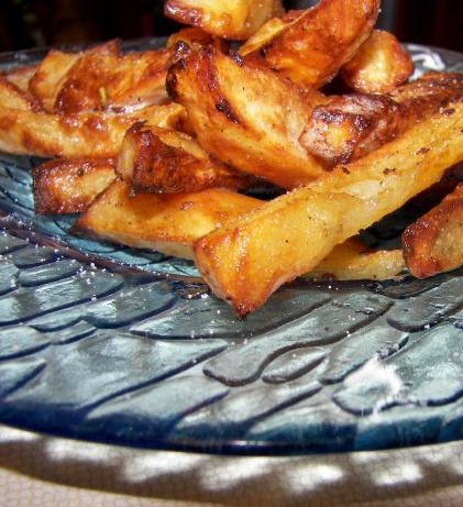 Baked Wedges With Fresh Rosemary and Sea Salt