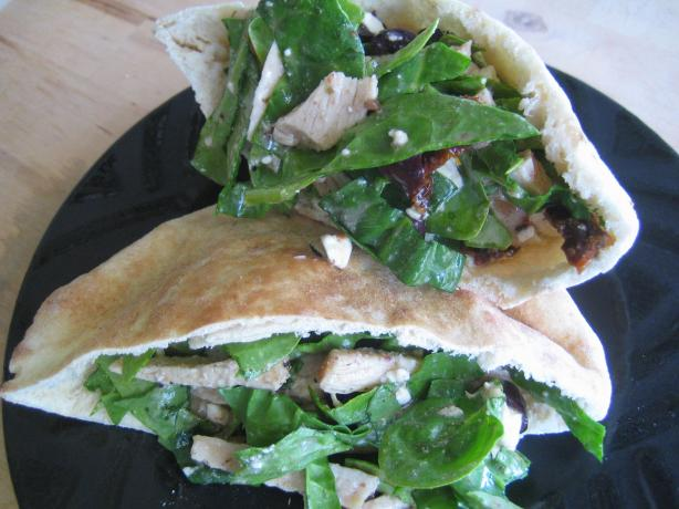 Greek Pita Sandwich With Italian Dressing