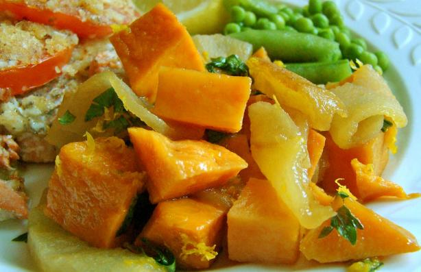 Baked Sweet Potato with Apples