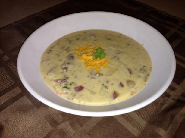 Creamy Cheeseburger Soup