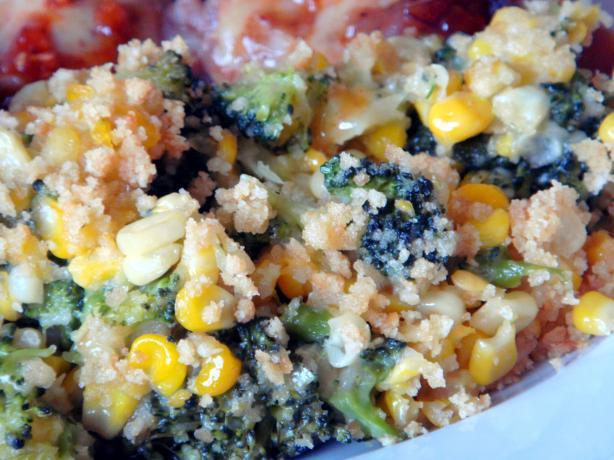 Corn and Broccoli Bake