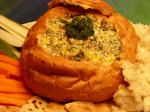 Baked Spinach Dip Loaf