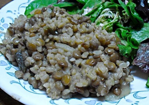 Mjadra - Lentils and Rice