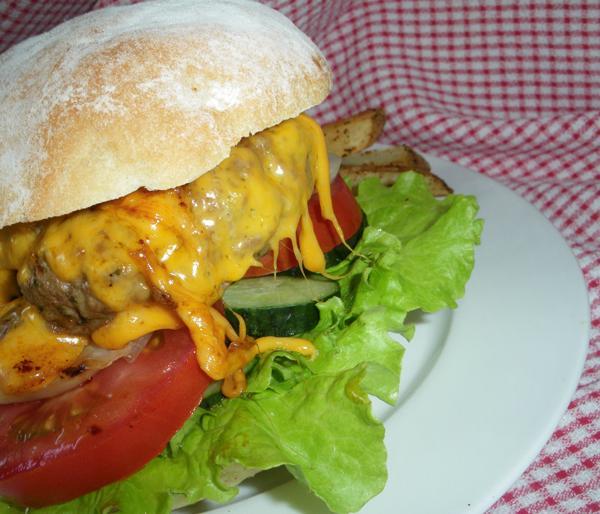 BBQ Watercress Pesto Burgers