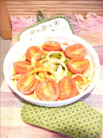 Baked Catalina Roma Tomatoes & Vadallia Onions