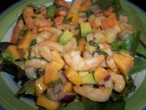 Caribbean Shrimp and Nectarine Salad