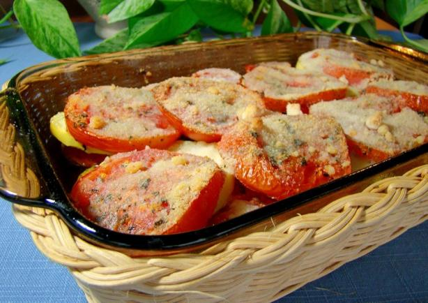 Layered Zucchini and Tomato Bake