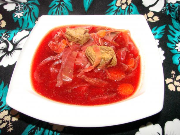 Beef, Beet and Cabbage Soup (Crock Pot and Ww)