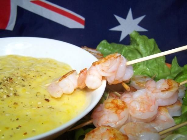 Barbecued Shrimp With Mango Lime Mayonnaise