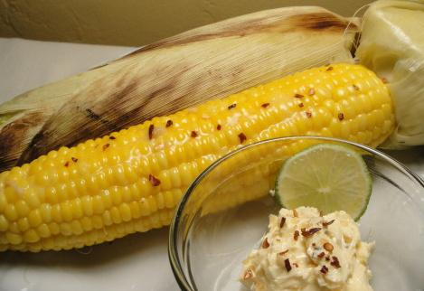 B-B-Q'd Corn With Chilli Lime Butter