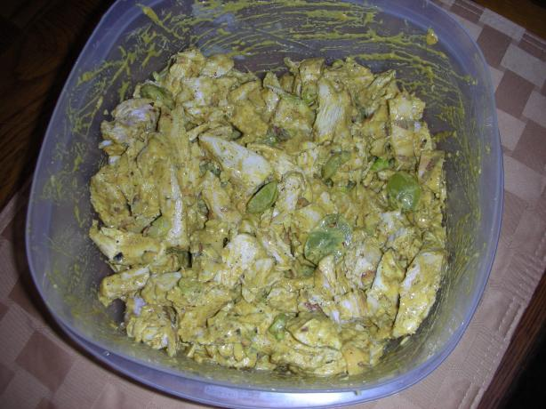 Chicken Salad Curry With Na'an