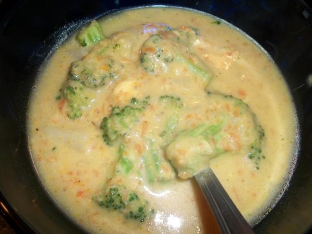 Broccoli, Cheese and Potato Soup