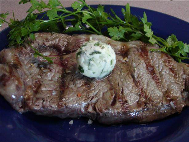 Herbed Butter Rib Eye Steaks
