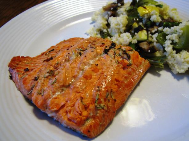 White Wine Grilled Salmon