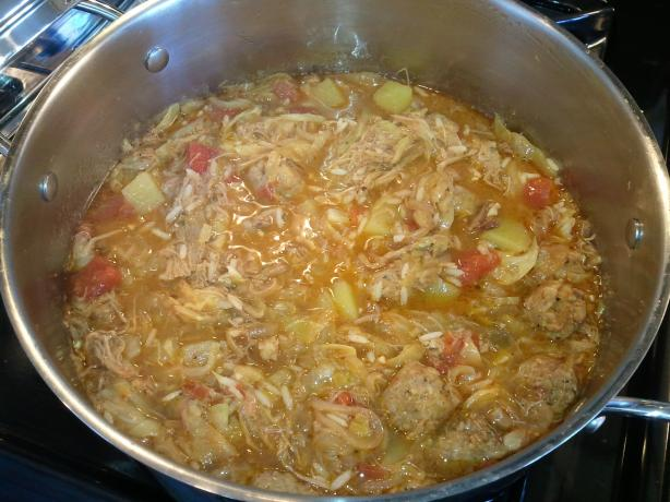 Spicy Sausage & Cabbage Soup