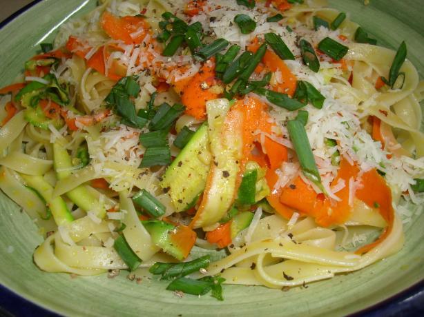 Zucchini & Carrot Ribbon Fettucini