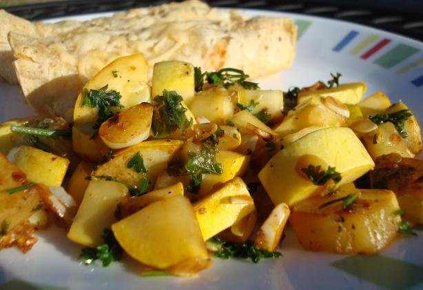 Summer Squash With Toasted Garlic and Lime