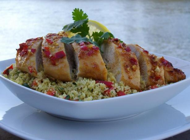 Lemon Garlic Chicken With Coriander