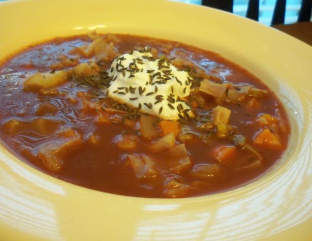 Hungarian Vegetarian Cabbage Soup