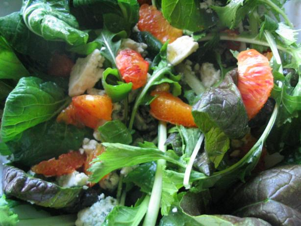 Arugula, Blood Orange and Bleu Cheese Salad