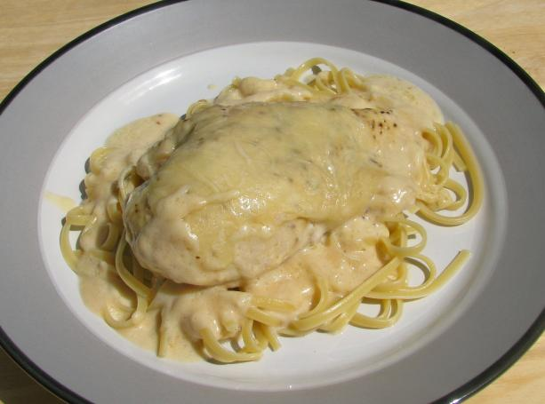 Chicken Breasts Alfredo (No Breading)