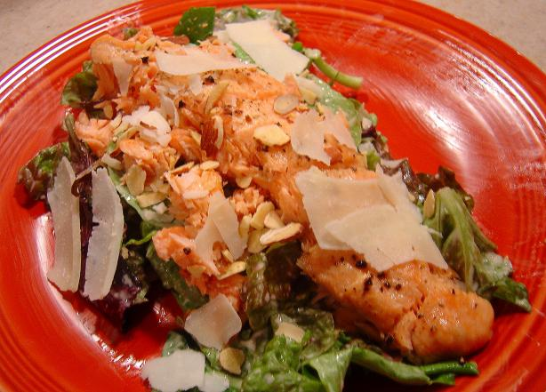 Quick & Simple Salmon Caesar Salad