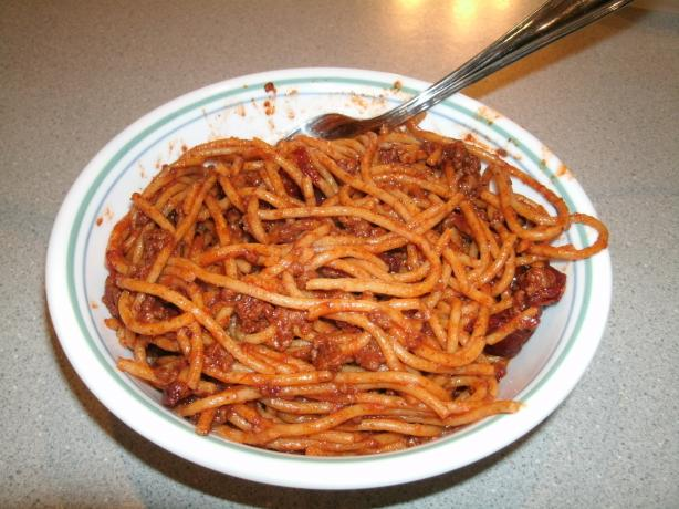 Spicy Chipotle Chili Spaghetti