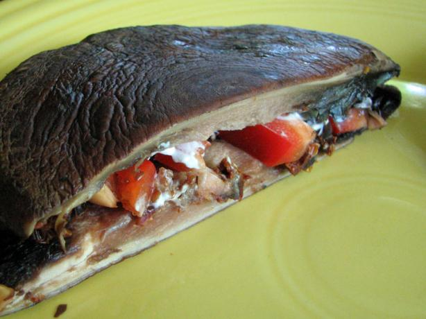 Portabella Panini With Gorgonzola Cheese and Sun-Dried Tomatoes