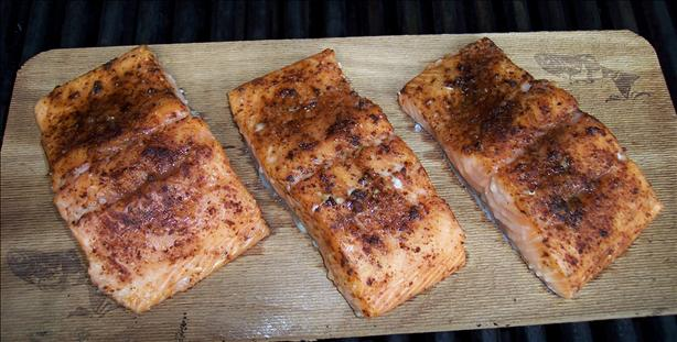 Maple Planked Salmon With Spice Rub