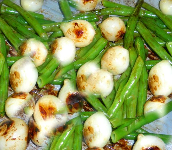 Sauteed Beans and Pearl Onions