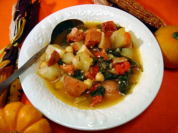 Linguica, Kale, and Potato Soup