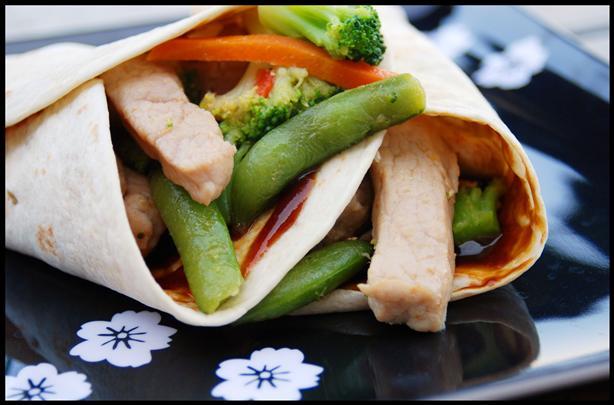 Mu-Shu Style Pork Roll-Ups
