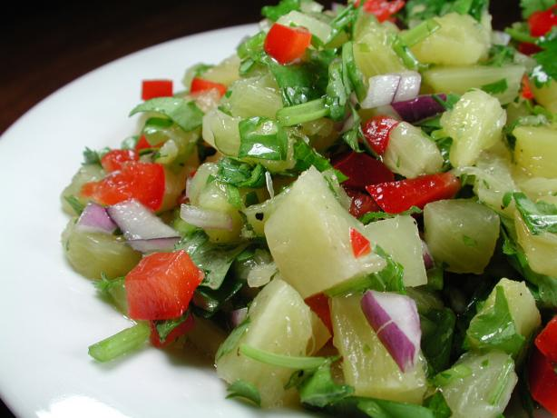 Pineapple and Coriander Salsa