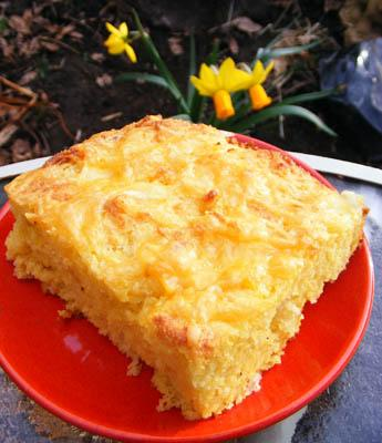 Cheesy Onion Cornbread
