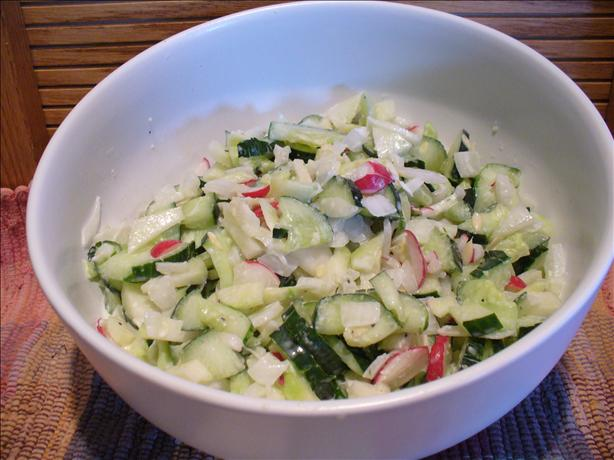 Rock {radish,onion,cucumber,kohlrabi} Salad