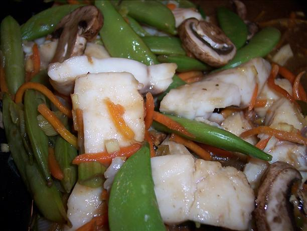Micro-Steamed Hoisin Fish and Vegetables