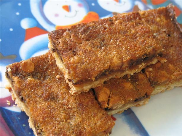 Gooey Chocolate Walnut Bars With Shortbread Crust
